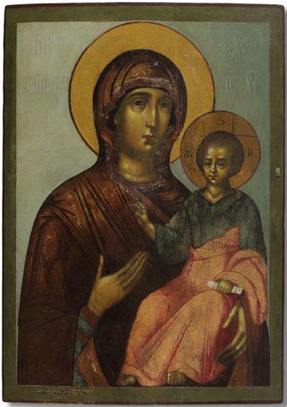The Mother of God Hodegetria by Simon Ushakov and apprentice (1675-1678)
