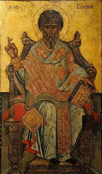 Icon of St. Spyridon, Bishop of Trimythous, 17th century