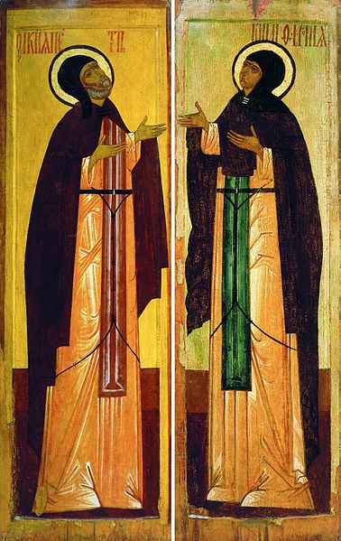 Icon of St. Peter and St. Fevronia, 16th century
