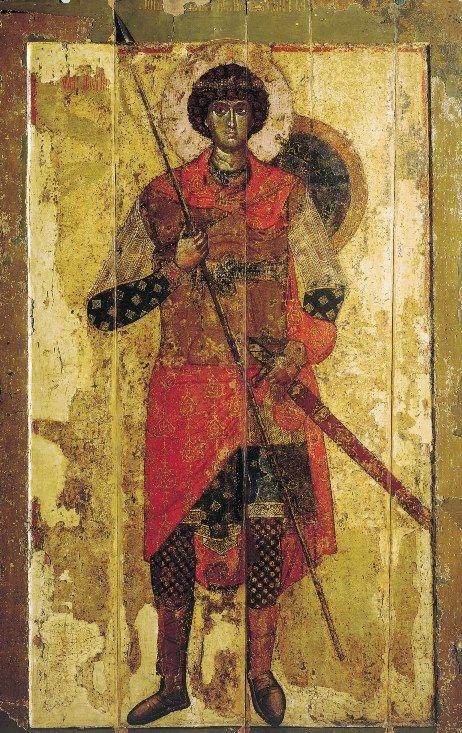Icon of St. George, Novgorod, 1130 – 1140s