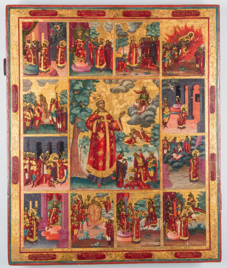 The Great-martyr Catherine, with 12 hagiographical scenes