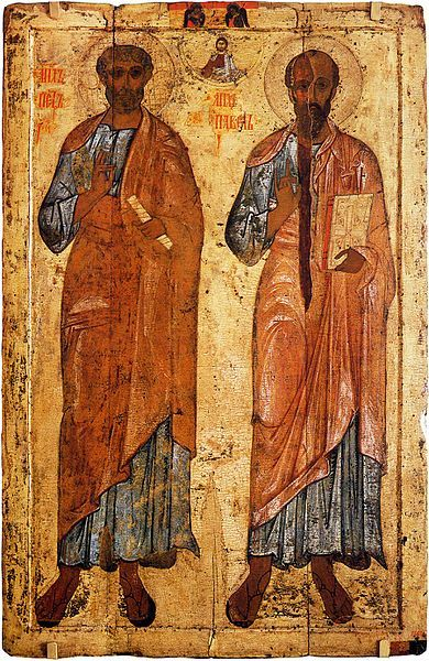 Icon of Sts. Peter and Paul from Belozersk, 13th century