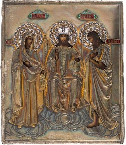 Russian Deesis icon, central Russia, last quarter of the 19th century