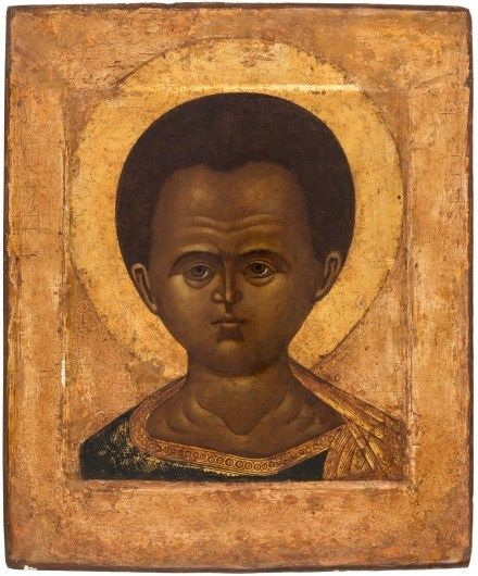 Russian icon of Christ Emmanuel, Nothern Russia, 17th century
