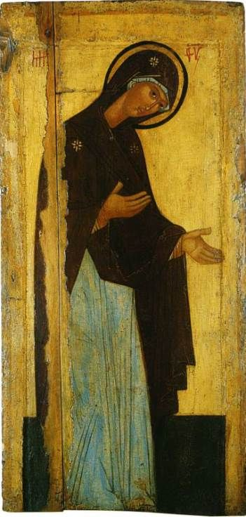 Deesis icon of the Mother of God (late 15th century)