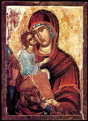 Icon of Our Lady of Hilandar, appeared in the 12th century