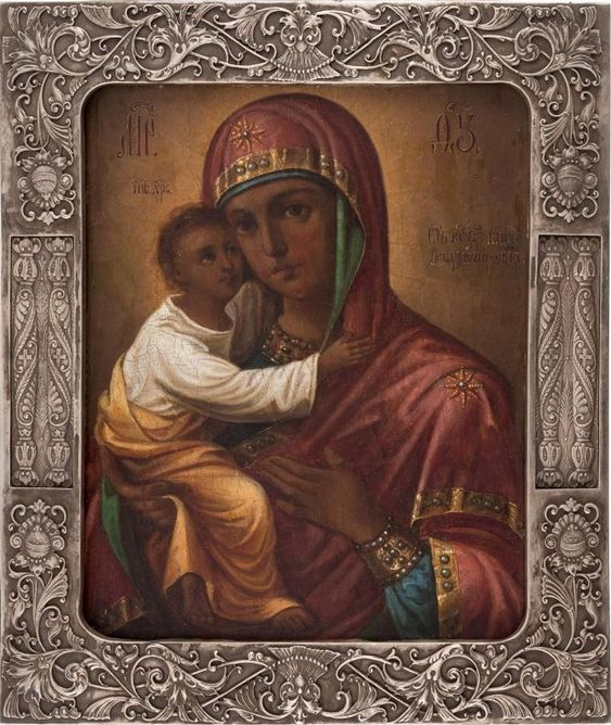 Russian icon of Our Lady of Vladimir