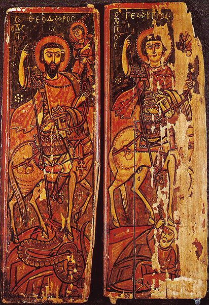 Icon of Sts. Theodore and George on Horseback from the St. Catherine's Monastery, 9th-10th century