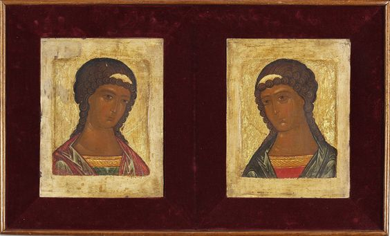 Russian icons of Sts. Gabriel and Mikhail, 16th – 17th century