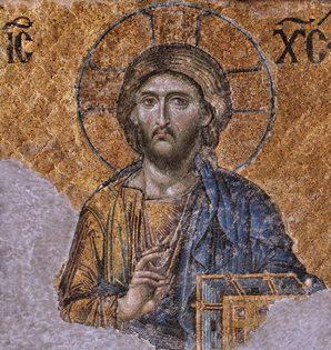 Christ Pantocrator mosaic from Hagia Sophia