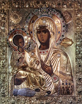 """Christian Icon of the Mother of God """"Of the Three Hands"""" and Its History"""