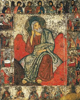 """Miraculous Story of the """"Elijah in the Wilderness"""" Icon"""
