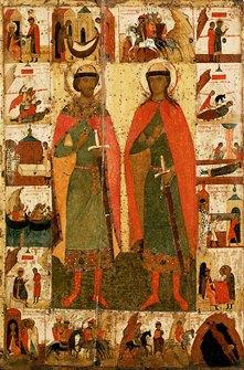 Icon of Boris and Gleb