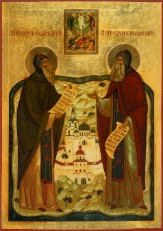 Icon of Saints Sergius and Herman of Valaam