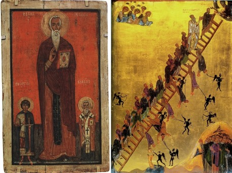 Icon of St. John Climacus and The Ladder of Divine Ascent