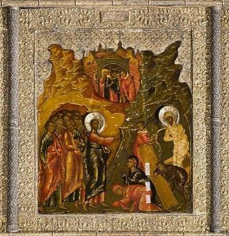 The Miraculous Legend of the Raising of Lazarus Icon
