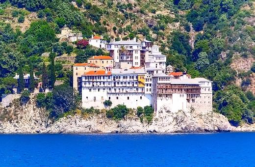 Mount Athos|Dochiariou monastery on Mount Athos