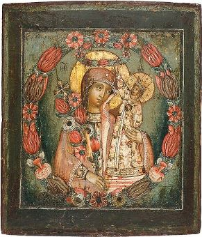 "Orthodox Icon of the Mother of God ""The Unfading Flower"""