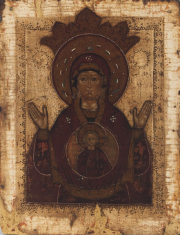 """Our Lady of the Sign """"Znamenie,"""" 18th century"""