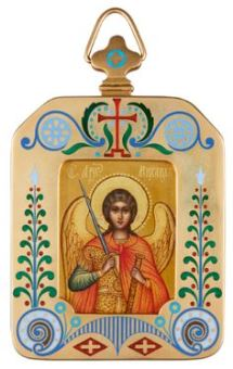 Pendant icon of the Archangel Michael (1908-1917)