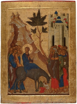 Russian Icon of the Entry into Jerusalem