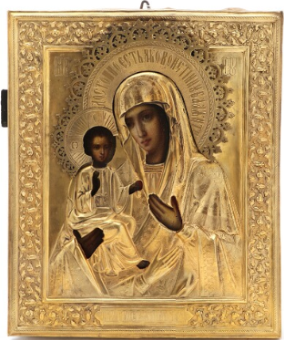 "Russian icon of the Mother of God ""Of the Three Hands"""