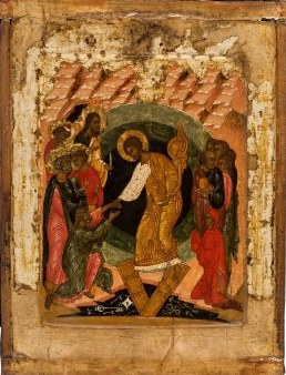 Russian icon of the Resurrection of Christ, 16th century