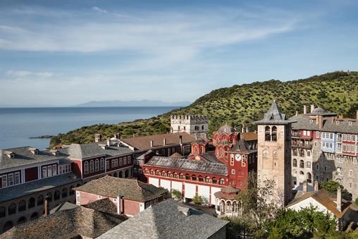 The Vatopedi Monastery on Mount Athos