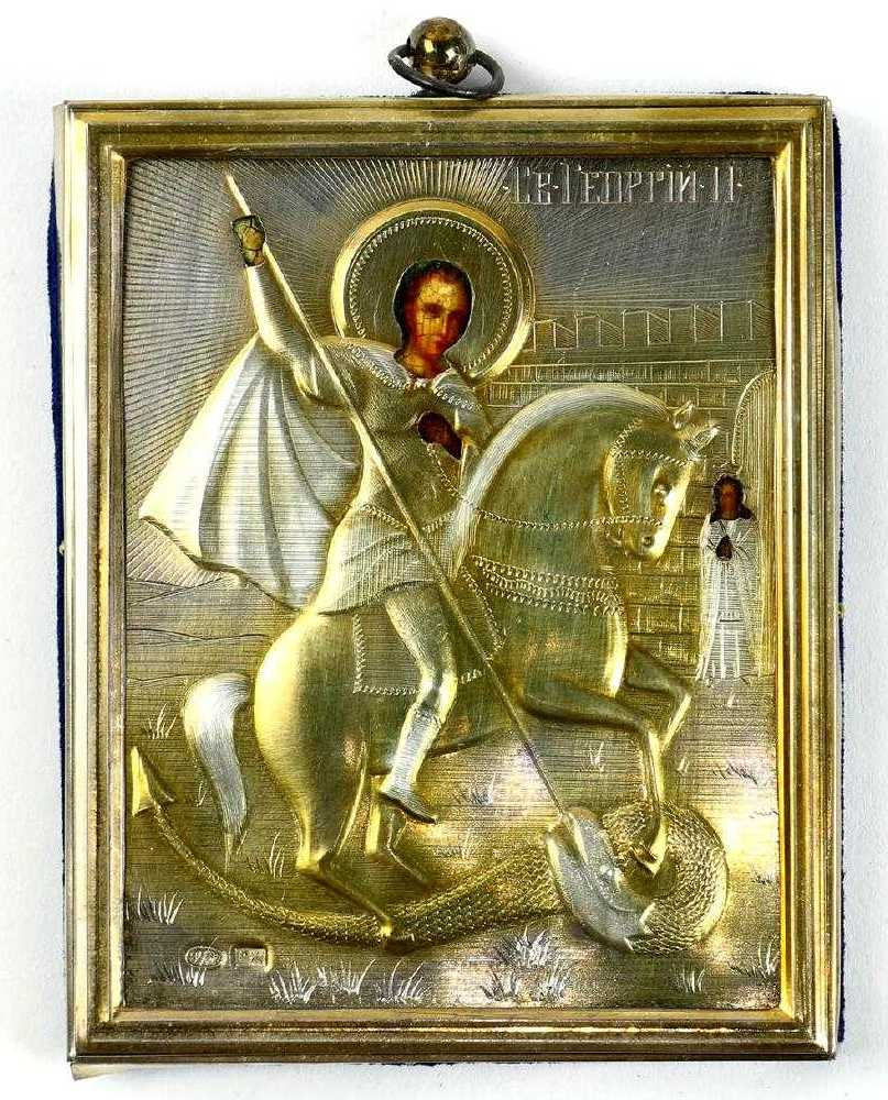 Russian Orthodox icons for sale; Traveling icon of St. George