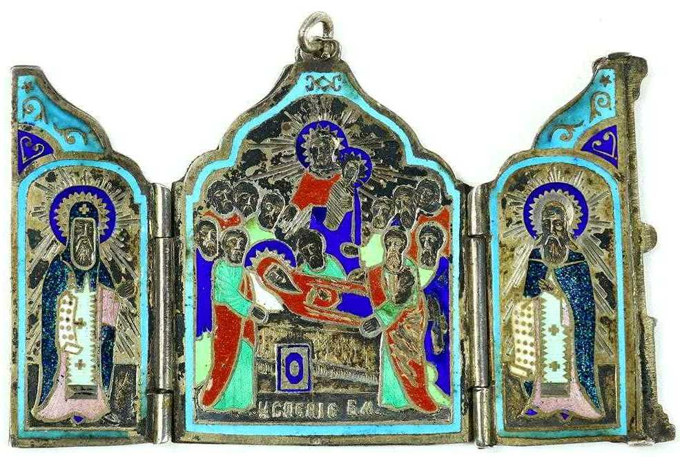 Russian Orthodox icons for sale; Traveling triptych icon