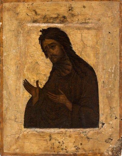 Russian icon of St. John the Baptist, 17th century
