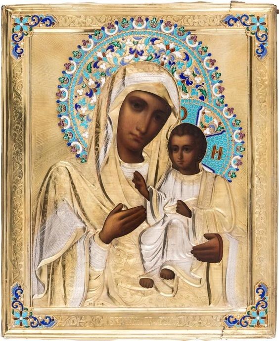 Russian icon of the Iver Mother of God