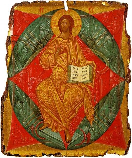 """""""Christ Enthroned in Glory"""" by Andrei Rublev"""