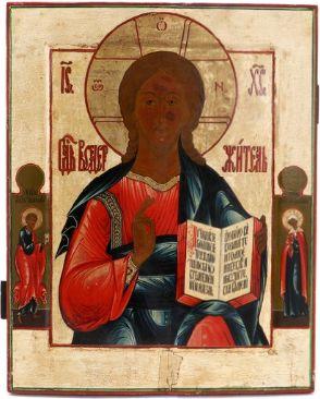 Russian icon of Christ Pantocrator (19th century)