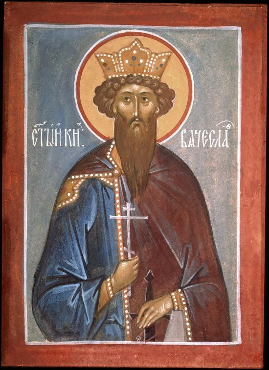 Icon of the Holy Nobleborn Prince Vyacheslav of Czechia