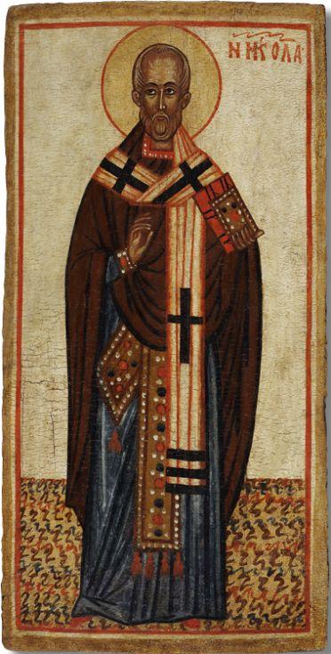 Icon of St. Nicholas of Myra. Middle – third quarter of the XIV century. Rostov.