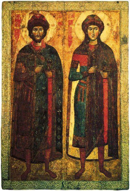 Russian Orthodox Icons of Boris and Gleb
