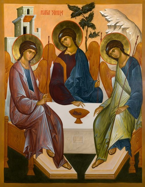 Russian and Greek Icons of the Holy Trinity