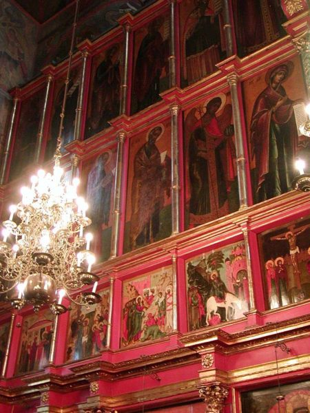 The Iconostasis of the Cathedral of the Archangel Michael in Moscow