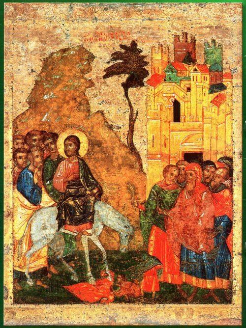 The Palm Sunday Icon: Christ's Entry into Jerusalem