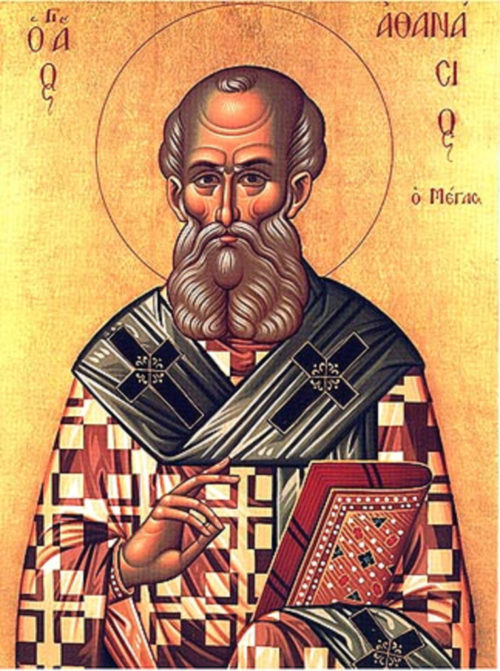 A Greek Orthodox Icon of Athanasius the Great
