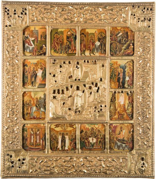 Russian Icon Book with a Rare Collection of Antique Icons