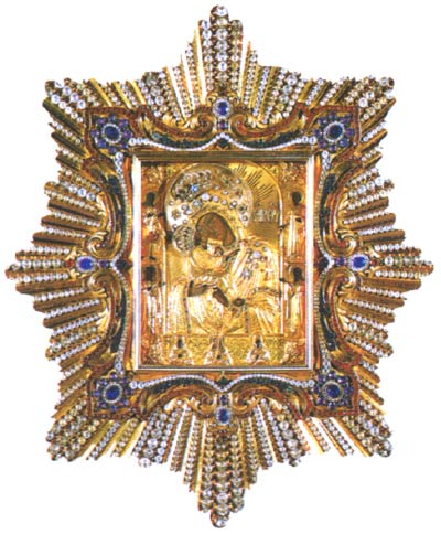 Religious Icon of the Pochayiv Mother of God