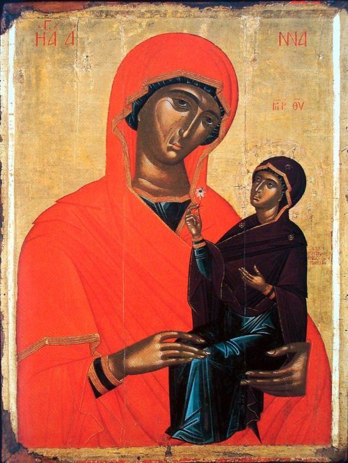 Greek Icons of Saint Anne, the Mother of the Theotokos