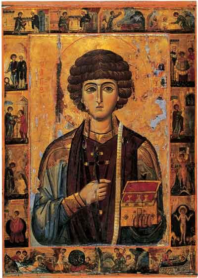 The Christian Healing Icon of Saint Pantaleon