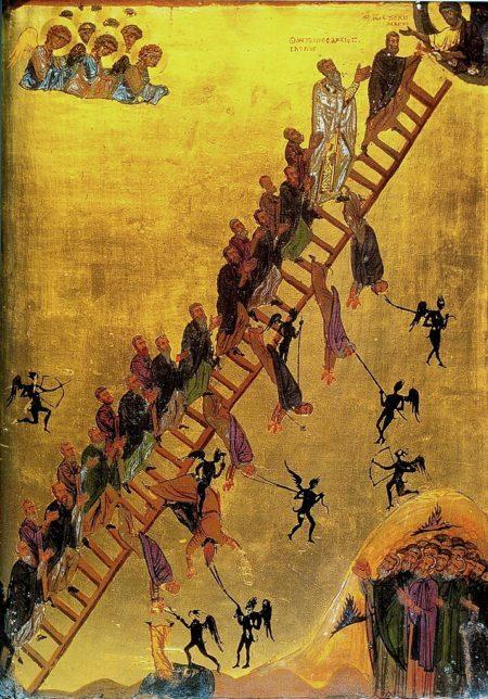 The Ladder of Divine Ascent icon - Икона «Лествица Райская»
